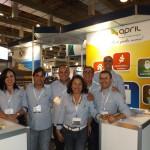 Equipe April com Paulo Nascimento e staff
