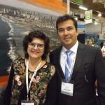 A presidente da Emprotur, Ana Maria Costa e o secretário de turismo do RN, Ruy Gaspar