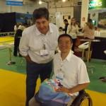 Otaviano Maroja de Porto de Galinhas ( presidente da Associação de hotéis e pousadas) e o diretor da turismo adaptado, Ricardo Shimosakai