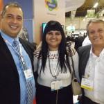 Adriano Gomes da CVC e Antonio e Rosangela Marçal